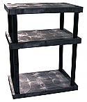 3-Shelf Solid Top